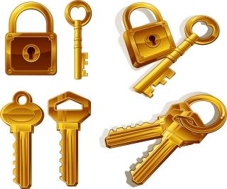 鍵と錠前 key vector pictures and locks イラスト素材