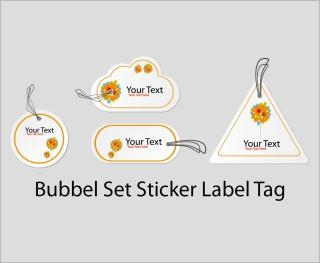テキスト用タグ ラベル sticker label tag イラスト素材