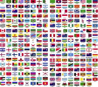 世界中の国旗見本 Flags of the World Sorted Alphabetically イラスト素材