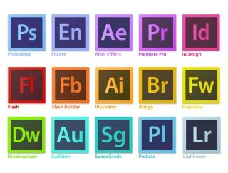 アドビ ソフト ロゴマーク Adobe Creative Suite Family Software Logo イラスト素材