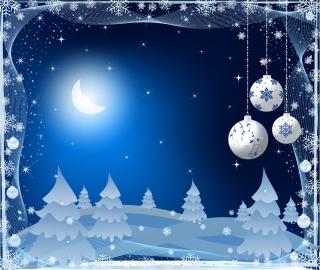 月明かりの聖夜の背景 exquisite christmas ball background イラスト素材