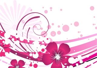 ピンクの花柄背景 Pink Flower with Abstract Background イラスト素材
