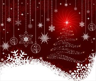 雪の結晶で飾り付けたクリスマスの背景 exquisite christmas ball background イラスト素材
