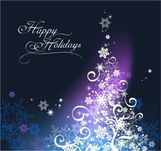 雪の結晶で型どるゴージャスなクリスマス ツリー gorgeous christmas tree イラスト素材