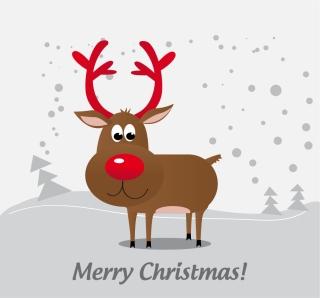 赤鼻のトナカイの背景 christmas reindeer background イラスト素材
