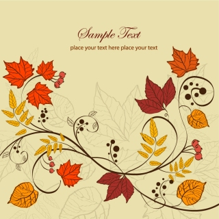 秋の紅葉の背景 Autumn Leaves Background イラスト素材
