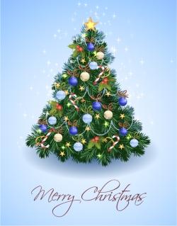 光輝くクリスマスツリー Vector illustration Christmas Tree イラスト素材
