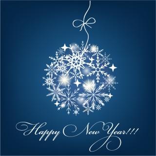 雪の結晶のクリスマスボール Christmas Ball with Snowflakes Vector Graphic イラスト素材