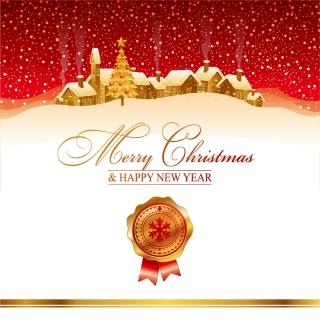 雪深い聖夜のクリスマスカード背景 christmas house background イラスト素材