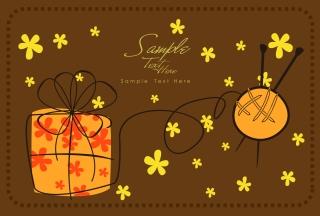 手描き風のクリスマスプレゼントの背景 cartoon christmas background イラスト素材