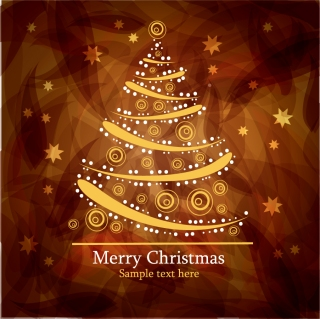 クリスマスツリーを型どったパターンの背景 christmas tree patterns イラスト素材