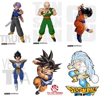 漫画ドラゴンボールのキャラクター cartoon Pearl Wukong Dragon Ball characters イラスト素材
