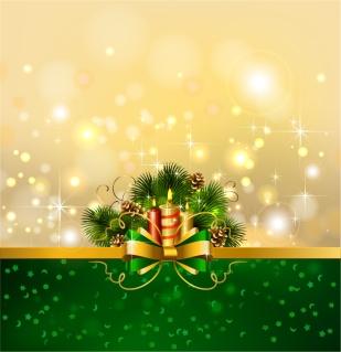 煌めくクリスマス飾りの表紙見本 beautiful christmas background イラスト素材