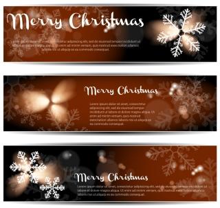 雪の結晶が美しいクリスマス バナー christmas banners イラスト素材