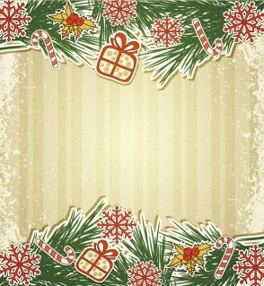 クリスマス飾りのボーダー Christmas decoration border イラスト素材