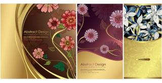 伝統的な植物パターンの背景 traditional pattern vector background イラスト素材