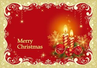 クリスマスキャンドルのカード テンプレート beautiful christmas cards vector イラスト素材2
