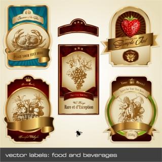 果物をテーマにしたラベル fruit theme label イラスト素材1
