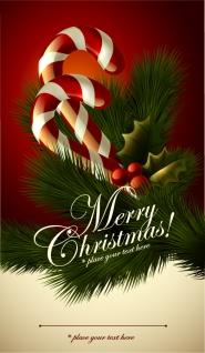 クリスマス飾りのグリーティングカード cute christmas greeting cards イラスト素材