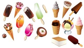 美味しいアイスキャンディ ice cream popsicles vector イラスト素材