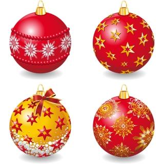 光沢ある豪華なクリスマスボール delicate christmas ball vector イラスト素材