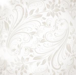 落ち着いたグレーの植物柄背景 floral wallpaper vector イラスト素材