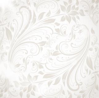 落ち着いたグレーの植物柄背景 floral wallpaper vector イラスト素材1