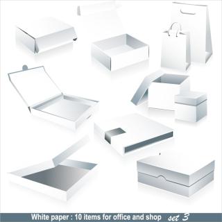 デザイン用白地の梱包素材 blank box packaging vector イラスト素材2