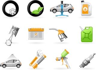 自動車メンテナンスのアイコン vehicle maintenance icon vector イラスト素材