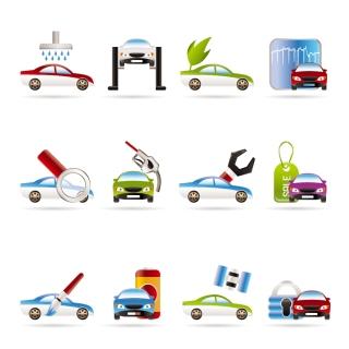 自動車サービスのアイコン Car Services Vector Icons イラスト素材
