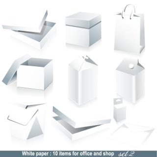 デザイン用白地の梱包素材 blank box packaging vector イラスト素材1