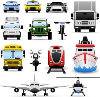 乗り物を正面から見たクリップアート car transport vector イラスト素材
