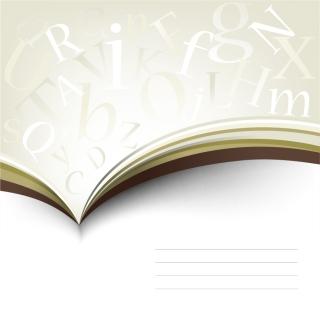 ページから溢れるアルファベット文字の背景 typography book pages イラスト素材