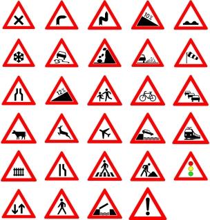 道路交通標識デザイン見本 Traffic Street Road Signs clip art イラスト素材