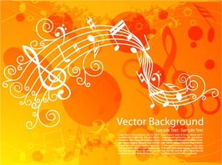 音楽テーマの背景 music theme イラスト素材2