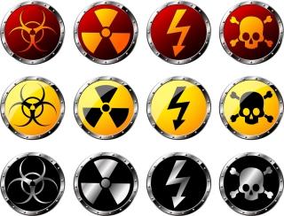 円形の放射線警報アイコン Round Radiation Warning icon イラスト素材