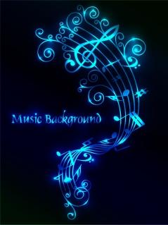 音楽テーマの背景 music theme イラスト素材1
