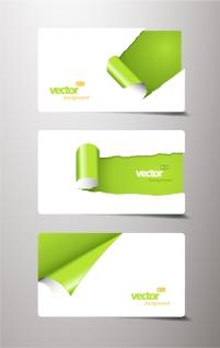 紙が捲れた名刺テンプレート beautiful roll angle card template イラスト素材