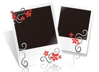 ポラロイドカメラの写真フレーム blank Polaroid photo paper イラスト素材1