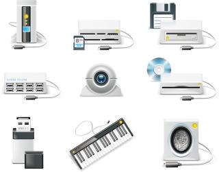 パソコン機器のクリップアート computer equipment icon vector イラスト素材2