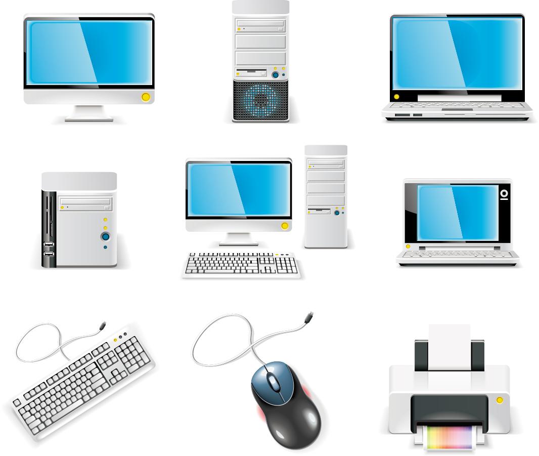 パソコン機器のクリップアート computer equipment icon vector イラスト