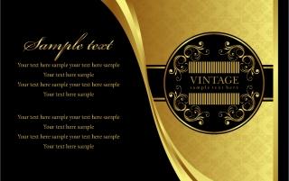 金色を基調にした表紙見本 european gold pattern イラスト素材1