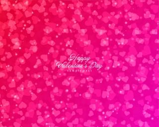 ハート型の光がにじむバレンタインデーの背景 Shiny Hearts Bokeh Light Valentine's Day Background イラスト素材