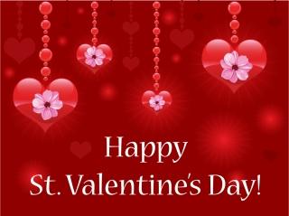 光るハートで表現するバレンタインデーの背景 Heart valentine day special イラスト素材1