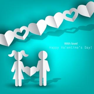 バレンタインデー飾りの切り抜き Heart valentine label elements イラスト素材