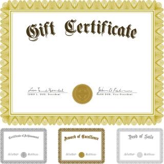 証明書の飾り罫テンプレート european pattern certificate イラスト素材