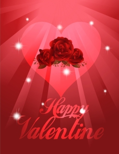 真っ赤な薔薇とハートのバレンタインデー背景 exquisite valentine background イラスト素材