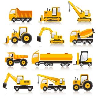 乗り物の車両アイコン Vector Transport Vehicle Icons イラスト素材2