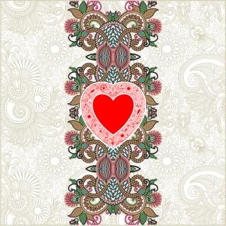 バレンタインデー ハート飾りのボーダー Valentine's Day line art corners borders イラスト素材