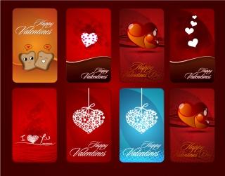 バレンタインデー カードの背景見本 Heart valentine day card vector イラスト素材2